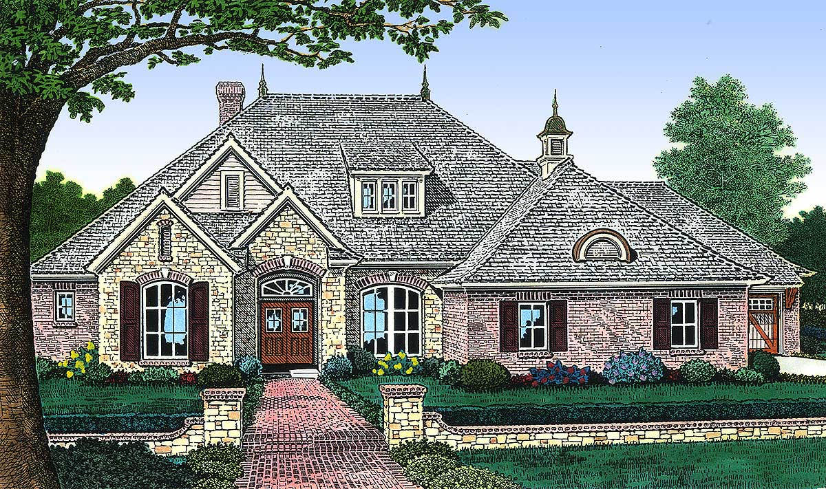 Elegant european home plan 48099fm architectural for European house plans with photos