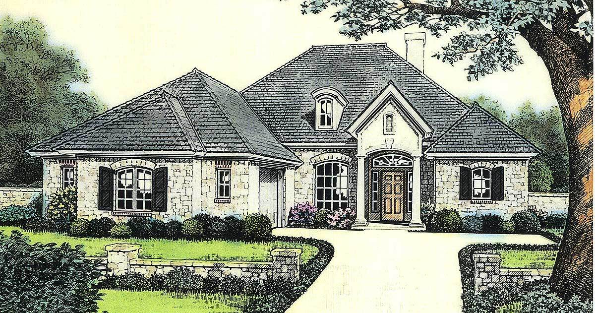 Attractive European Cottage House Plan 48105fm