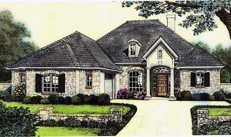 Attractive European Cottage House Plan 48105fm 1st
