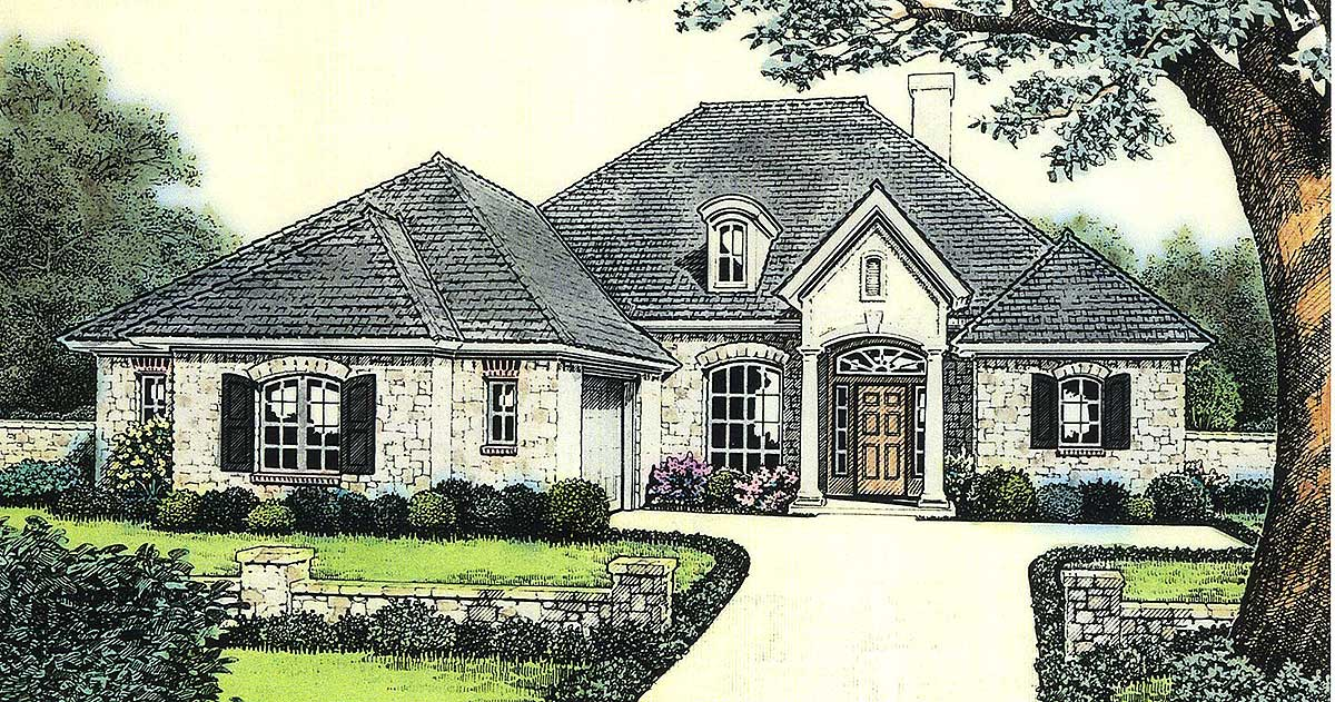Attractive european cottage house plan 48105fm for European cottage house plans