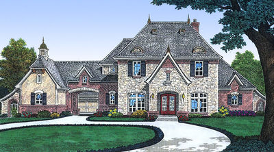 Home Plan with Private Parking Courtyard - 48128FM thumb - 01