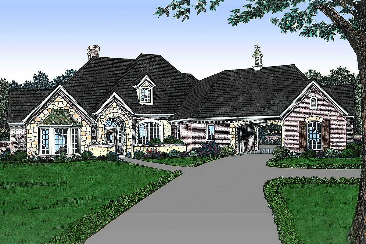 traditional country house plans old world french country house plan 48137fm architectural designs house plans 6968