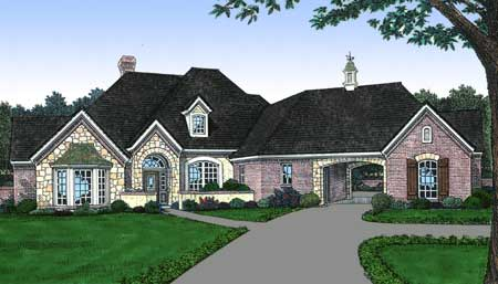 Old world french country house plan 48137fm 1st floor for Old world european house plans