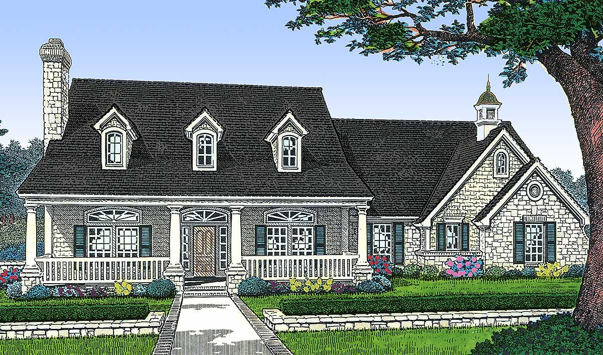 Three bedroom house plan country style 48153fm for 3 bedroom country home plans