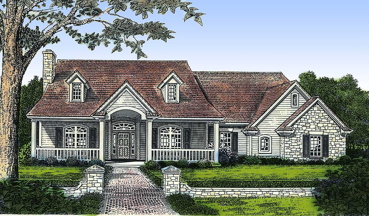 Elegant country home plan with options 48156fm for Elegant country homes