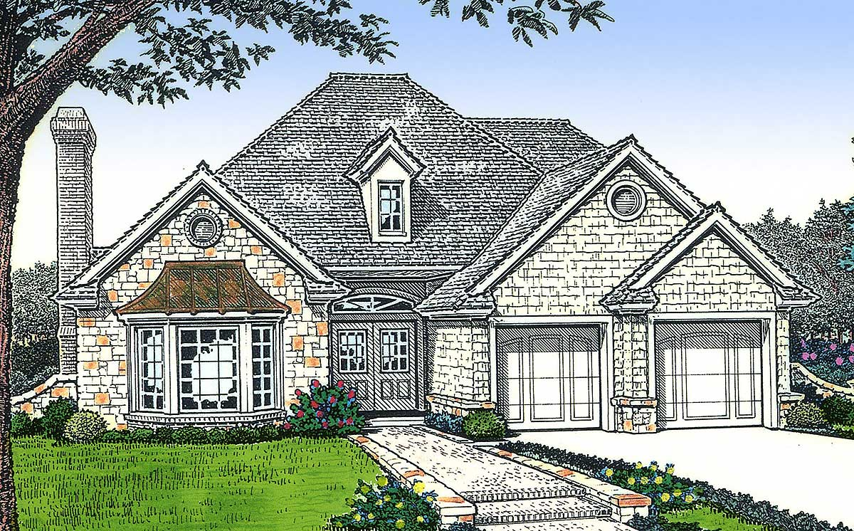 Petite european cottage 48169fm architectural designs for European bungalow house plans