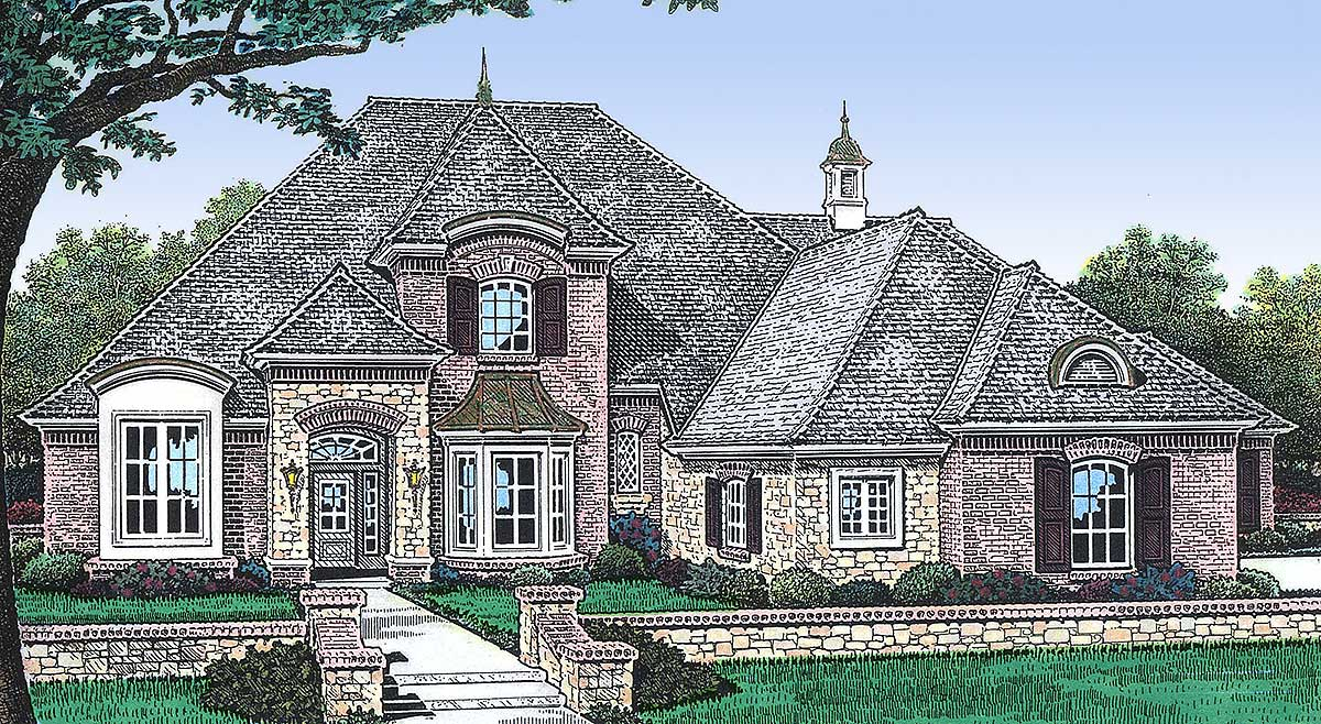 Stately french country home plan 48196fm architectural for Stately house plans