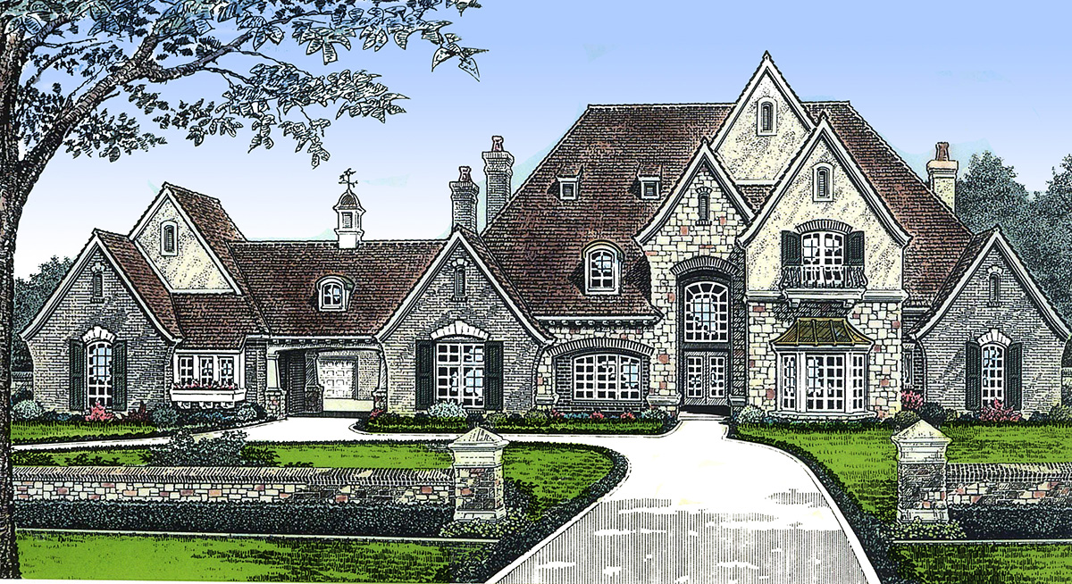Feature filled luxury home plan 48235fm architectural for Luxury home features