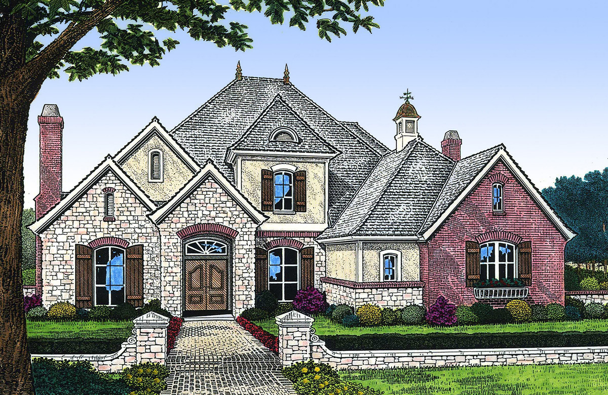 Sumptuous french country house plan 48251fm for Large french country house plans