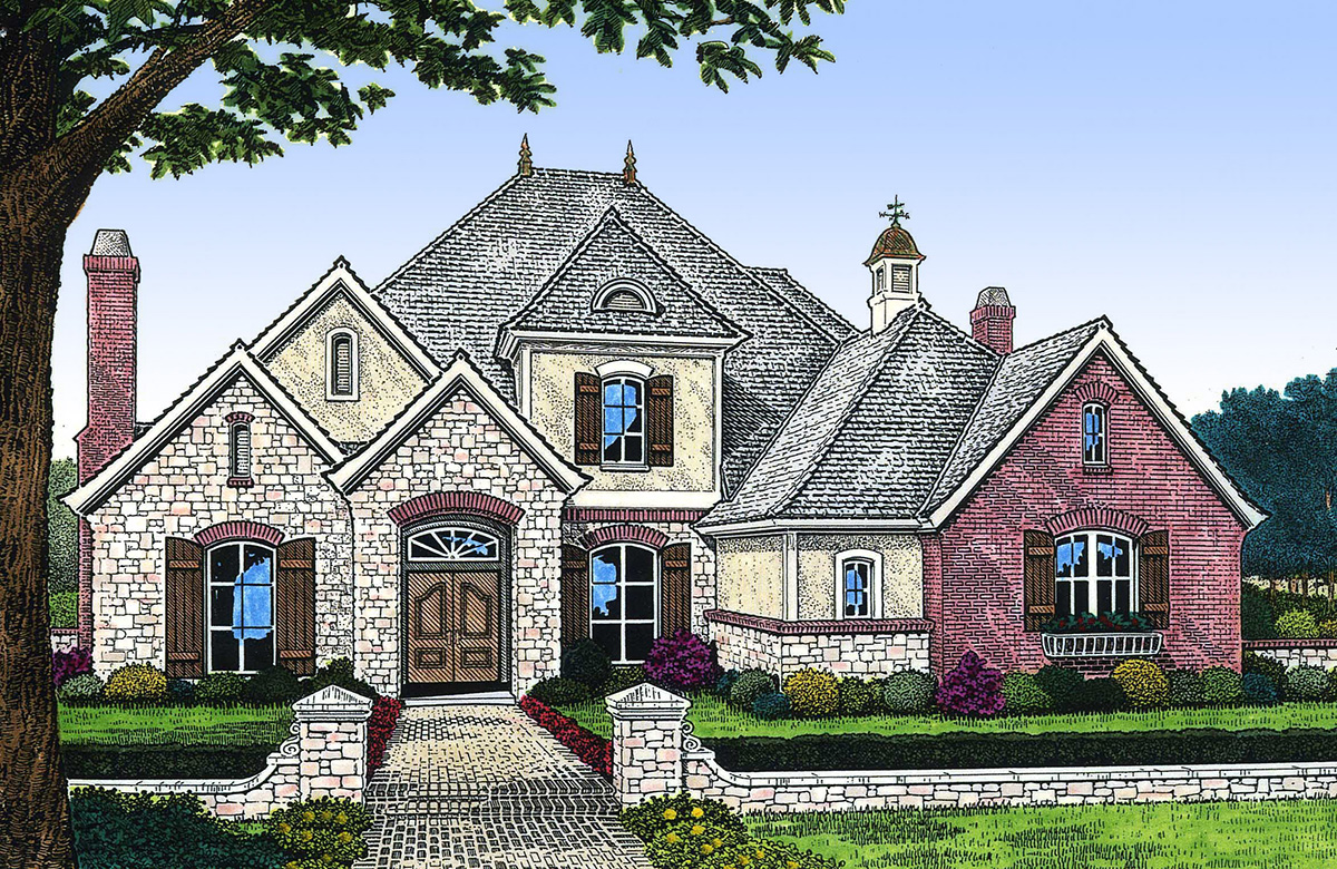 Sumptuous French Country House Plan