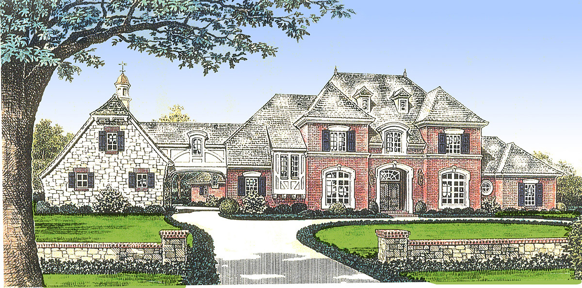 classic french country manor home 48267fm
