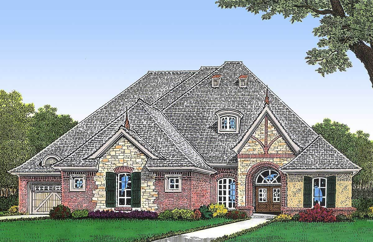 European house plan with future rec room 48292fm for House plans designed for future expansion