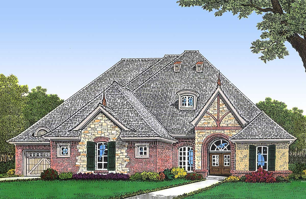 European house plan with future rec room 48292fm for European farmhouse plans