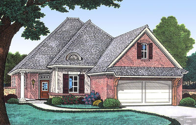Narrow Lot French Country House Plan - 48309FM | Architectural ...