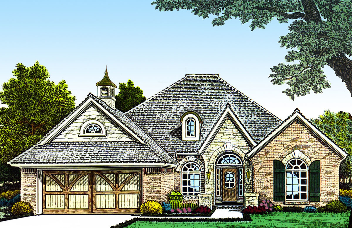 Narrow lot european home plan 48312fm architectural for Europeanhome com