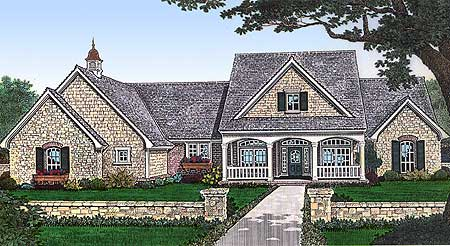 3 bedroom home plan with large bonus room 48318fm 1st for Three bedroom house plans with bonus room