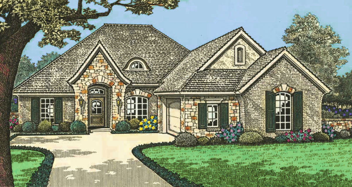 Tidy french country house plan 48321fm architectural for Large french country house plans