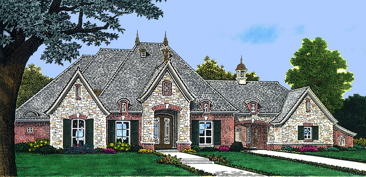 Dormers illuminate cathedral great room 48343fm 1st for South cathedral mansions floor plans