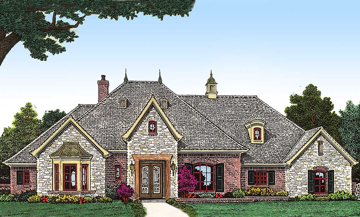 Secluded master suite 48372fm 1st floor master suite for French european house plans