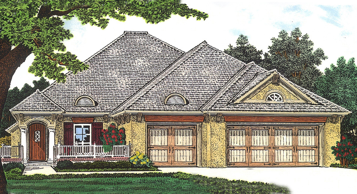 Front Courtyard House Plan 48374fm Architectural
