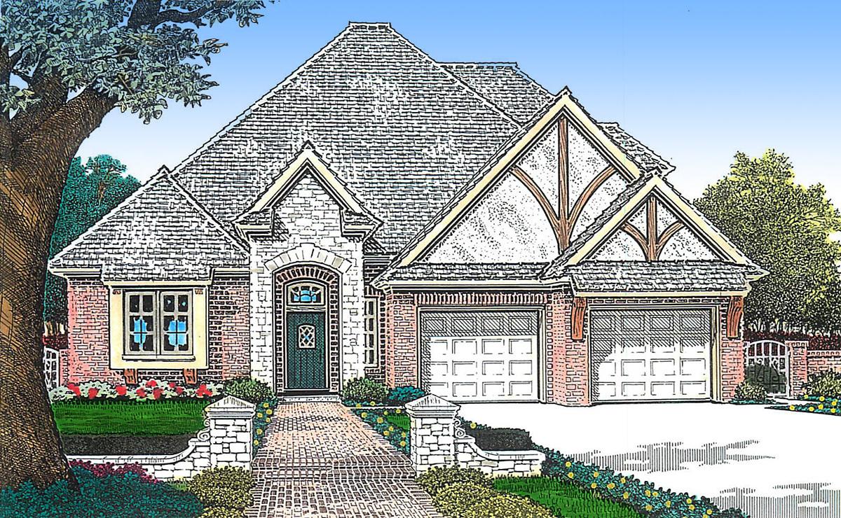 Narrow lot european home plan 48385fm architectural for Europeanhome com