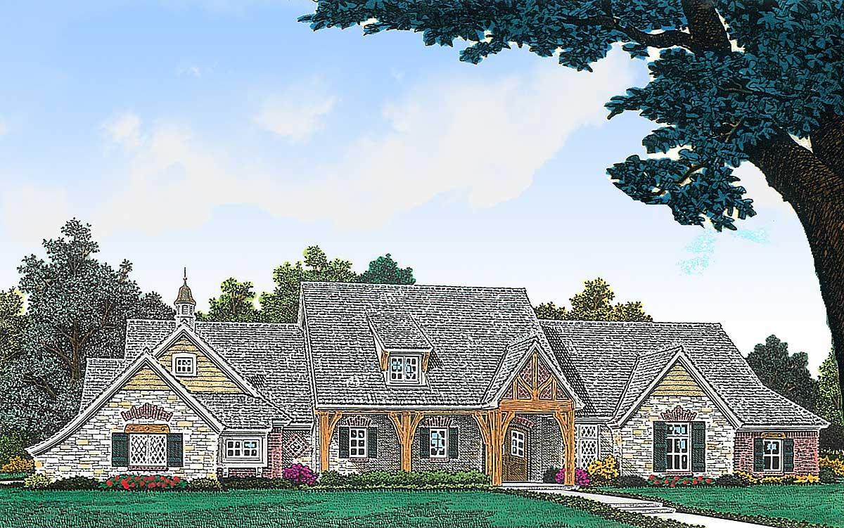 European Ranch Home Plan 48394fm Architectural Designs
