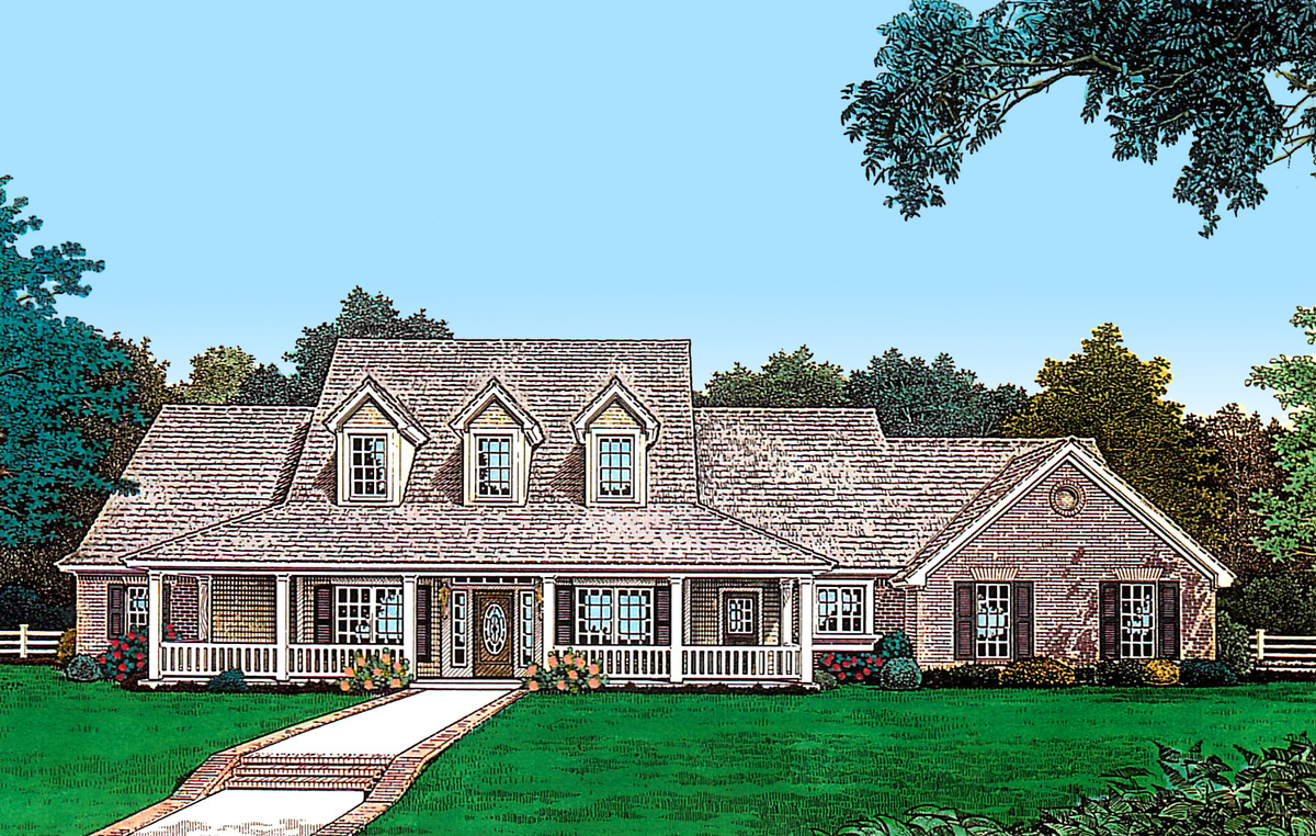 Farmhouse plan with expansion space 48395fm for House expansion plans