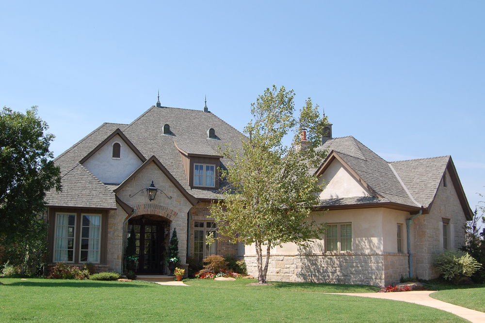 European Home With Angled Garage - 48402FM