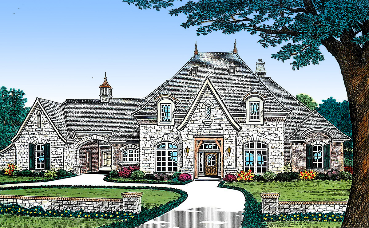 Separate guest suite 48414fm architectural designs for House plans with separate guest house