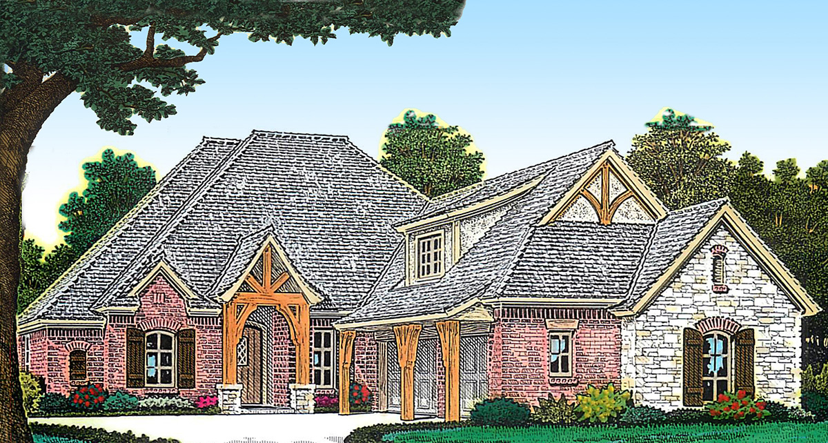 European country home plan 48420fm architectural for European country house plans