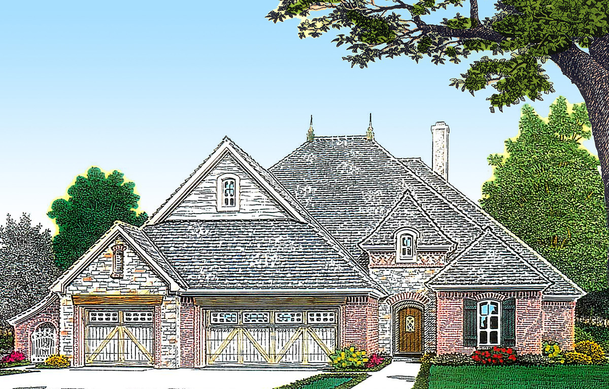 European home with split bedrooms 48422fm 1st floor European farmhouse plans