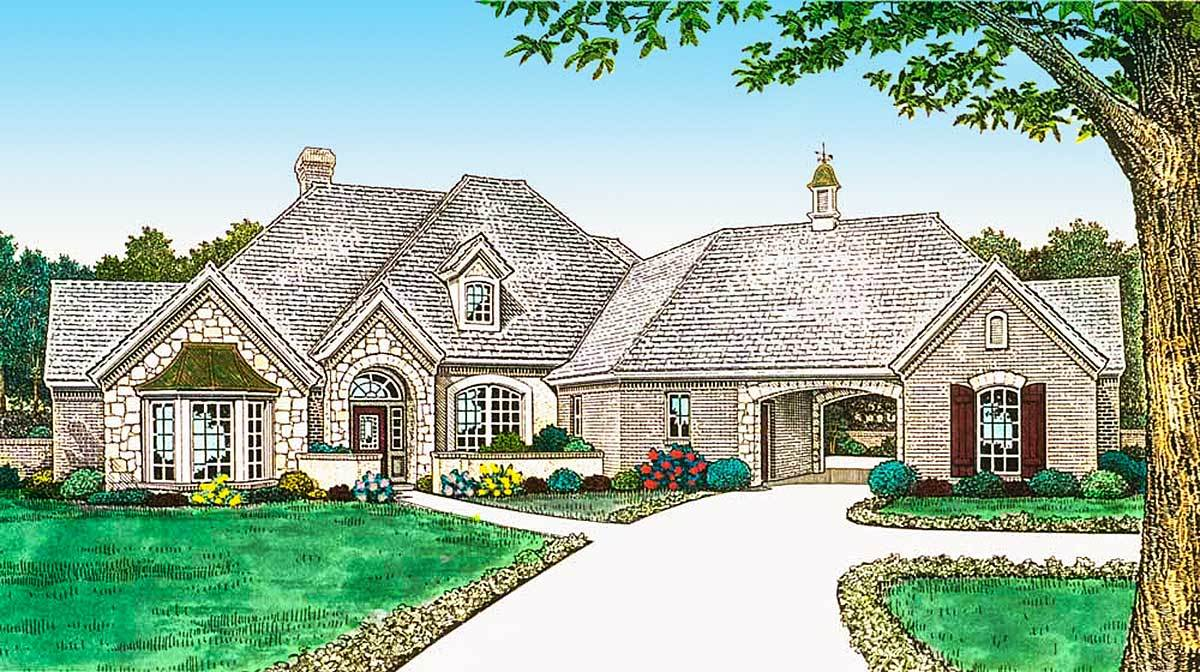 Old world french country home plan 48432fm for Old world house plans