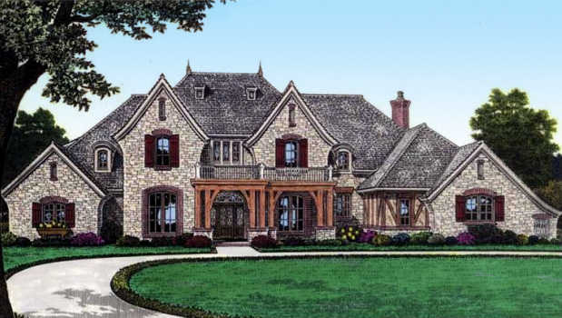 Gorgeous european manor home 48435fm architectural for European manor house plans