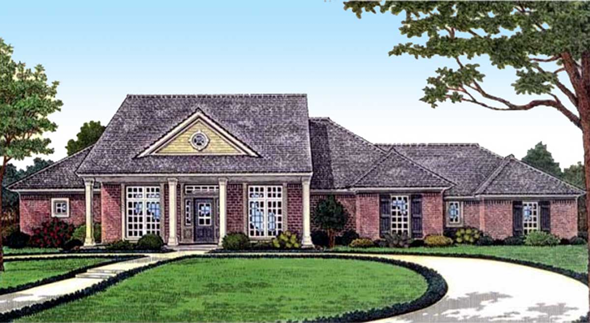 3 bedroom southern country house plan 48451fm for 3 bedroom country home plans