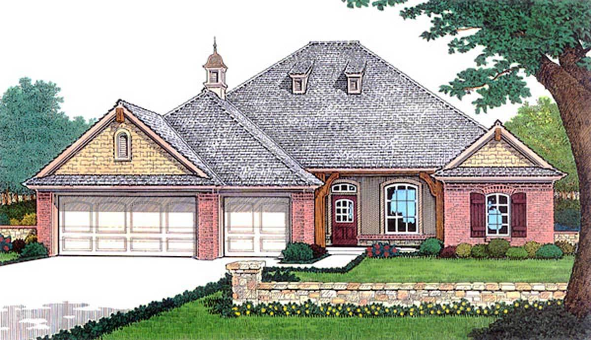 Open great room 48464fm architectural designs house for Large great room house plans