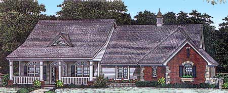 Country House Plan With Vaulted Great Room 48484FM