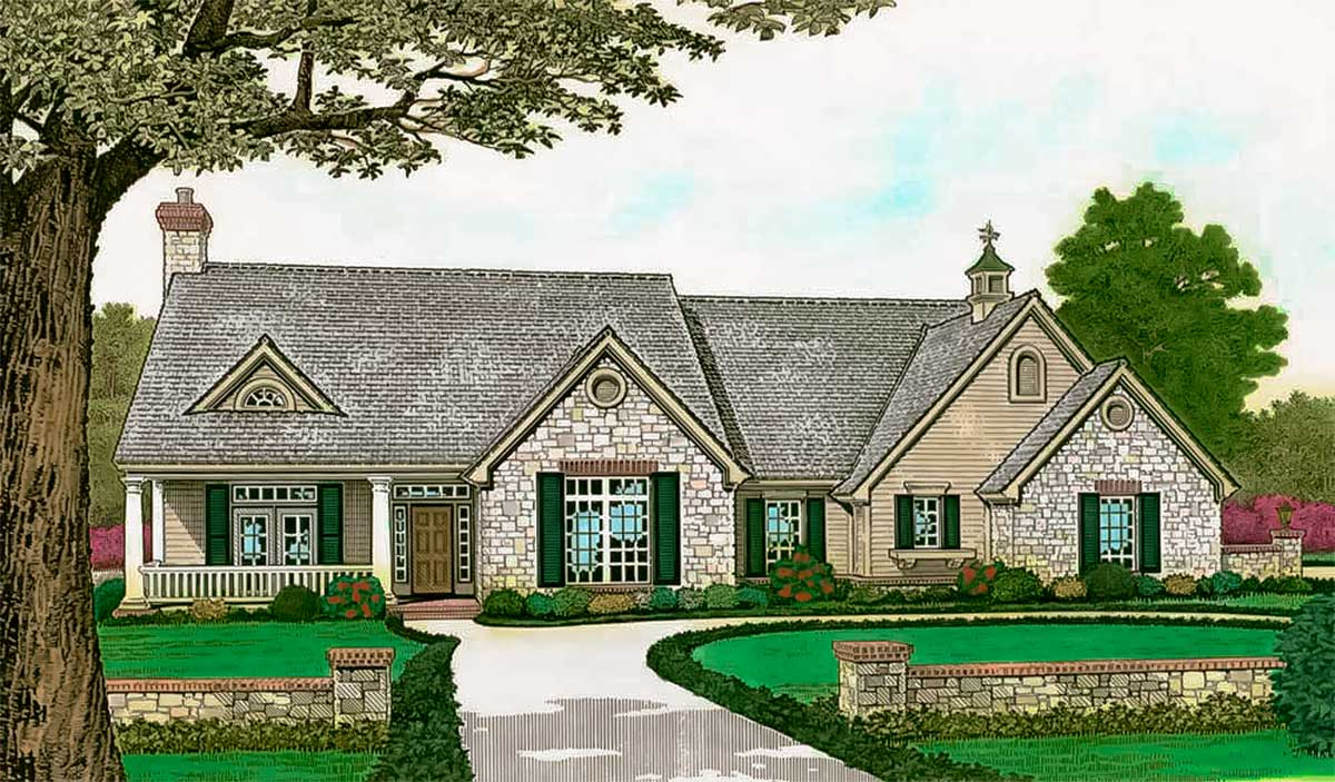 Elegant ranch house plan 48486fm architectural designs - What is a ranch house ...