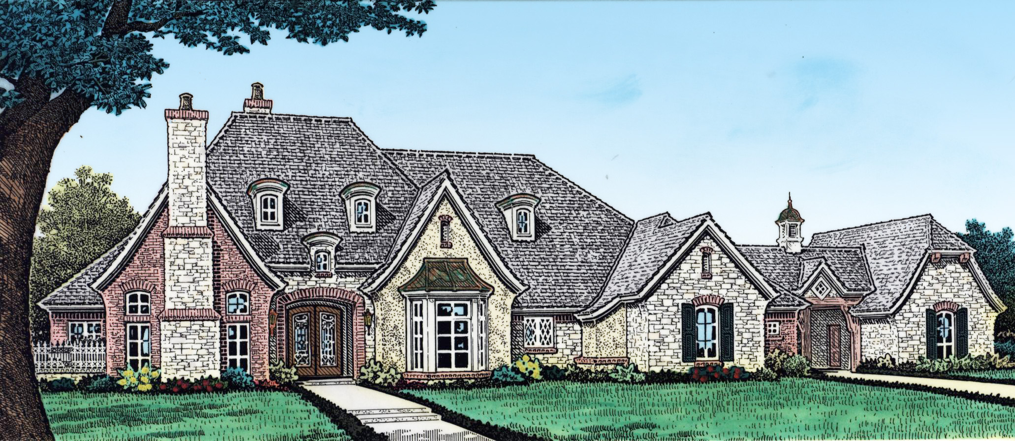 Elegant 4 bed french country house plan 48514fm 1st for French country house plans