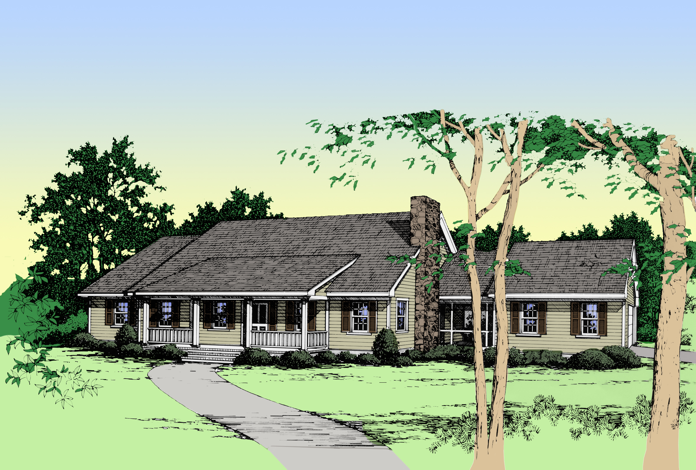 Rustic Ranch House Plan 4964k Architectural Designs