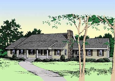 Rustic ranch house plan 4964k architectural designs for Rustic ranch house