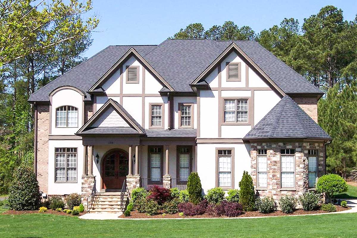Five bedroom tudor house plan 50602tr architectural for Tudor house plans with photos