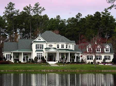 Outstanding Traditional Home   Balcony Bridge   TR   st    Plan TR ArchitecturalDesigns com