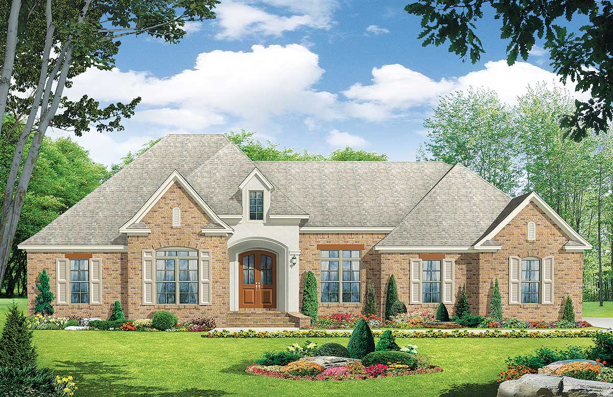Beautiful european country 51014mm architectural for European country home plans