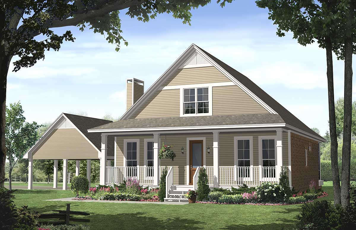 Charming country home 51018mm 1st floor master suite for Country houseplans