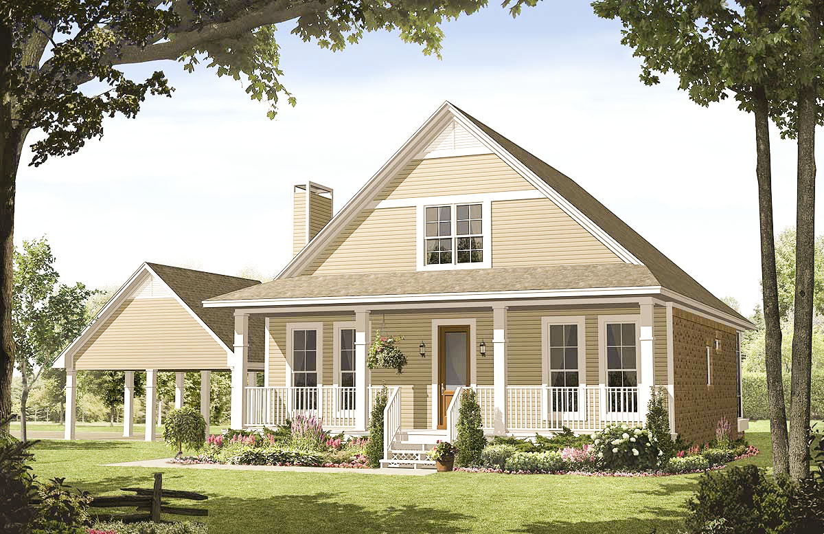 Charming Country Home 51018mm Architectural Designs