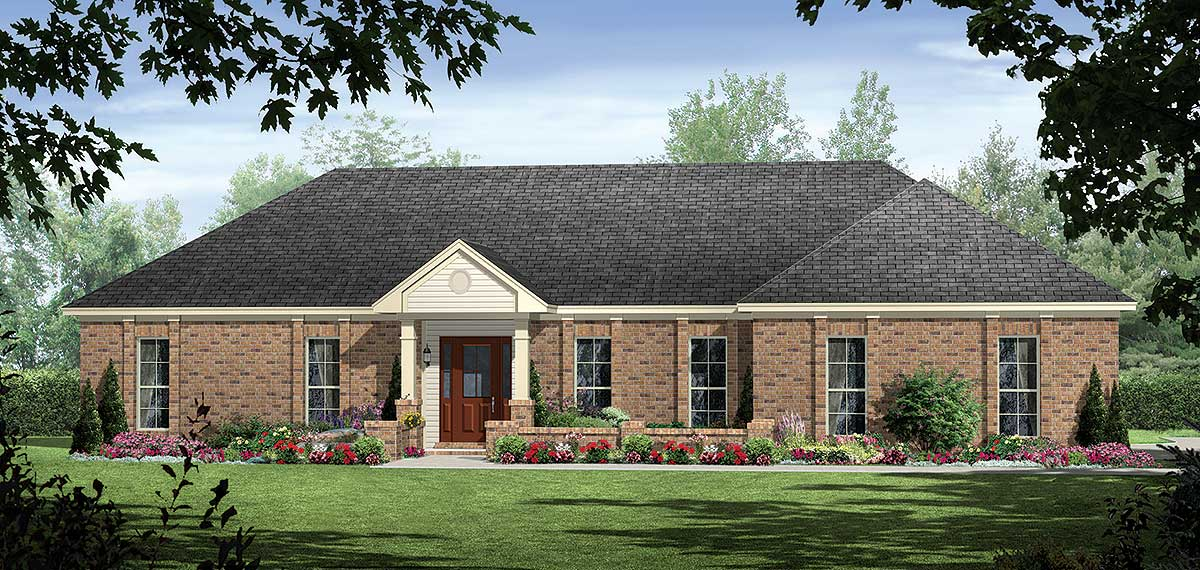 Southern Ranch 51025mm Architectural Designs House Plans