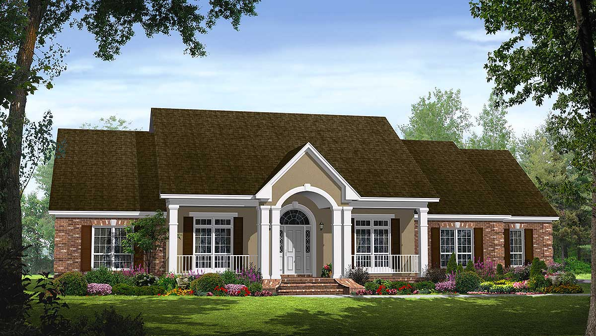 great open floor plan 51038mm architectural designs house plans - Traditional Country Homes