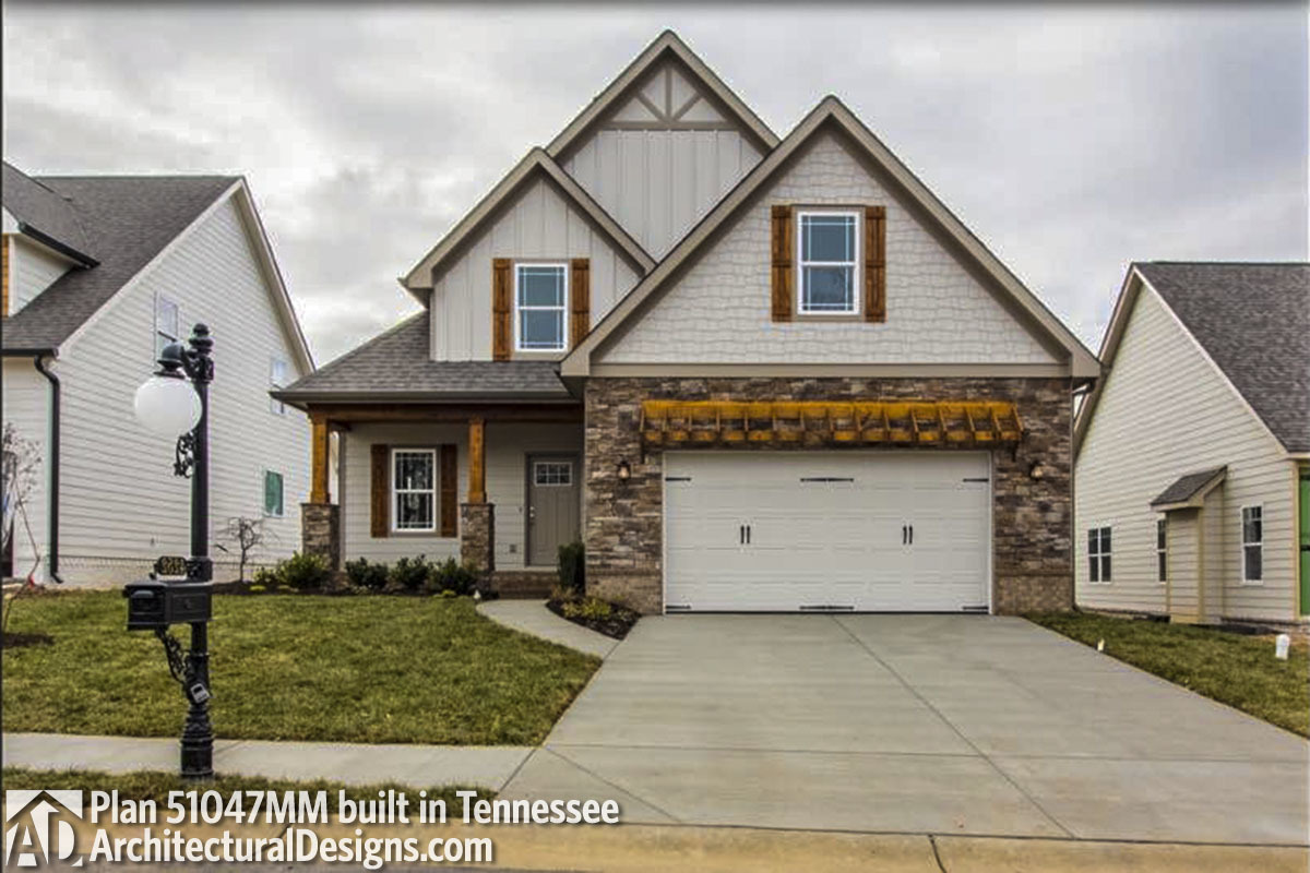 House Plan 51047MM comes to life in Tennessee! - photo 001