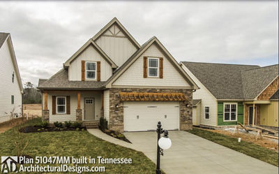 House Plan 51047MM comes to life in Tennessee! - photo 002
