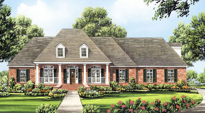 Four Bedroom Split-Bedroom House Plan - 51063MM thumb - 01